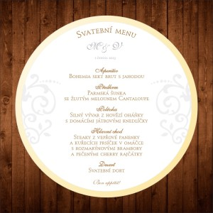 kulaté svatební menu
