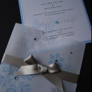 zimní svatební oznámení