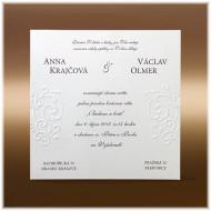 reliéfní svatební oznámení