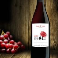 etiketa na víno strom