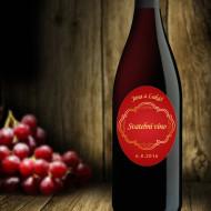 etiketa na víno oválná