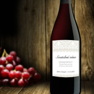 etiketa na víno ornamenty