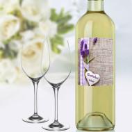 etiketa na víno levandule