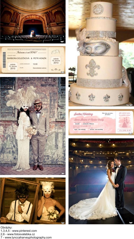 Svatební oznámení jako vstupenka do divadla