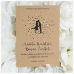 přírodní svatební oznámení kraftový papír